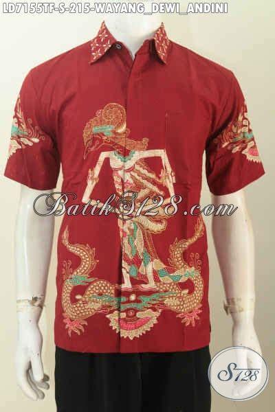 Dress Kemeja Dewi koleksi hem batik wayang pria lengan pendek motif wayang