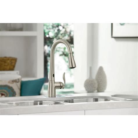 arbor kitchen faucet moen 7594esrs arbor pull sprayer kitchen faucet motionsense in stainless pppab avi depot
