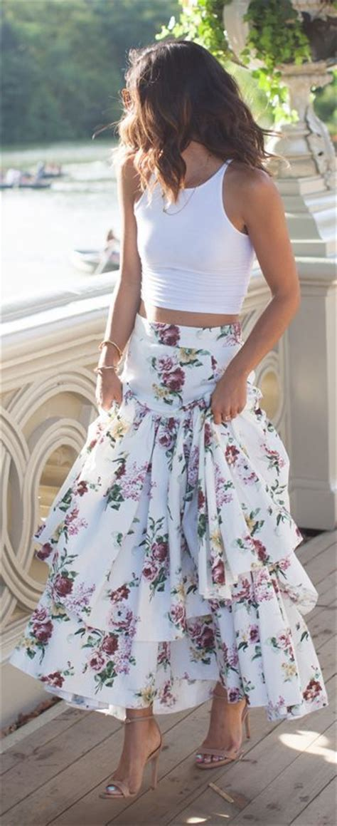 Maxi Flowbor Pink Ab black a line denim skirt 2017 dress ala