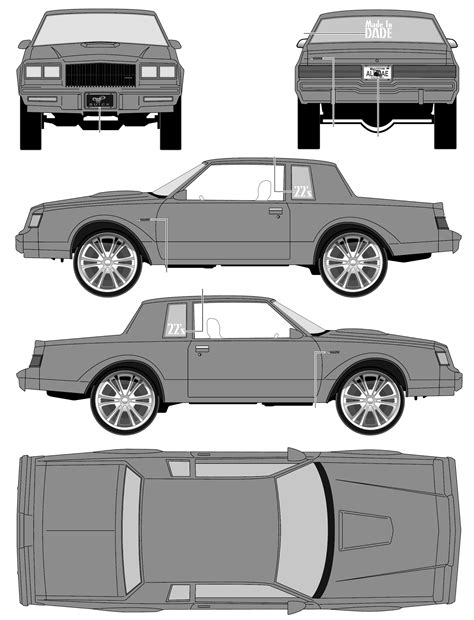 1987 Buick Grand National Donk Coupe blueprints free