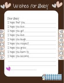 wishes for baby template printable free printable baby shower wishes for the baby