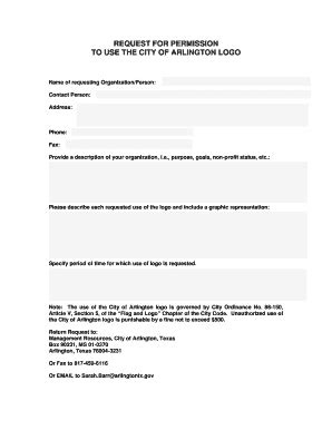 Permission Letter Logo Use fillable request for permission to use logo doc fax