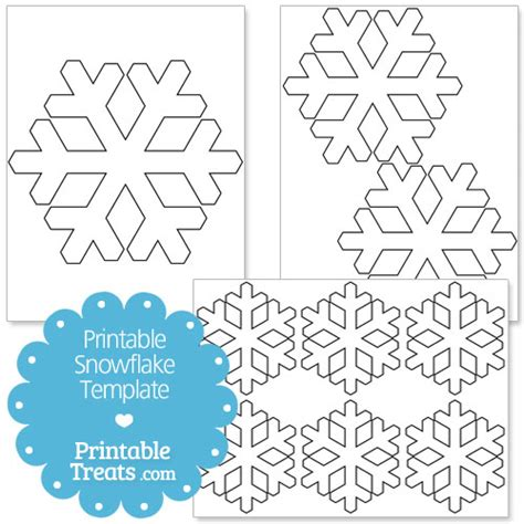 Printable Snowflake Template by Printable Snowflake Templates Printable Treats
