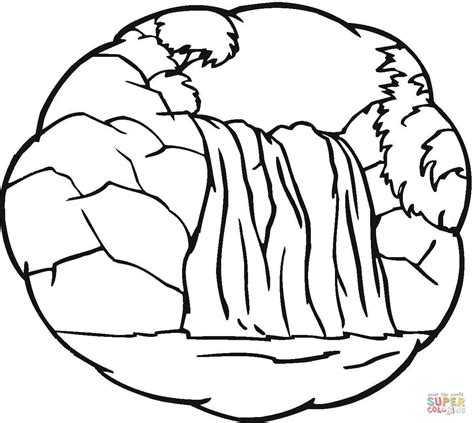 waterfall coloring pages little waterfall coloring page free printable coloring pages