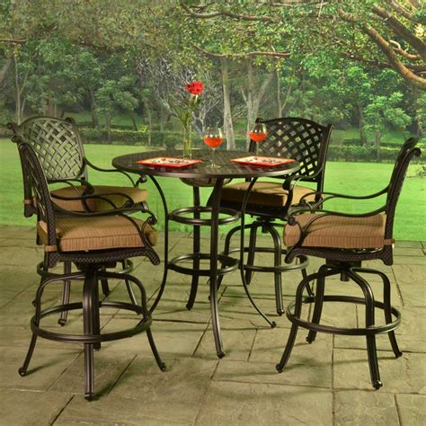 patio furniture bar height collection patio bar sets