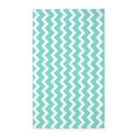 Chevron Pattern Area Rugs Aqua White Chevron Pattern 3 X5 Area Rug By Dreamingmindcards