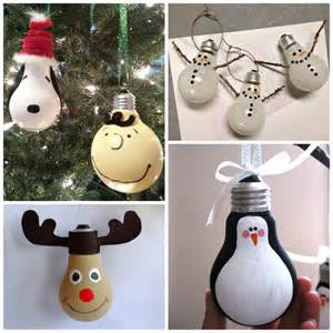 creative christmas light bulb ornaments crafty morning