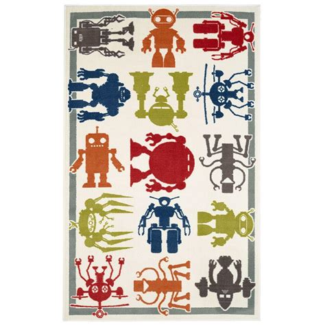 Robot Rug by Mohawk Home Robot Army Multi 5 Ft X 8 Ft Area Rug 477707