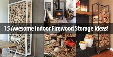 15 Awesome Indoor Firewood Storage Ideas!   The