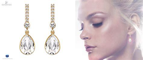 Swarovski Earrings swarovski attention pierced earrings gold