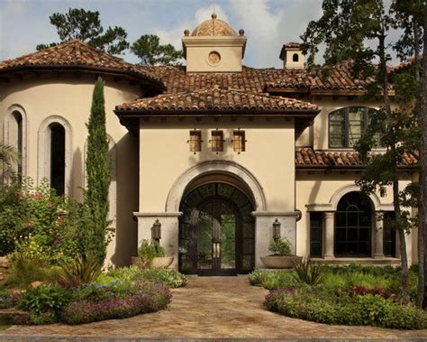Mediterranean Stucco With Tile Roof Homes Mediterranean House Roof Design