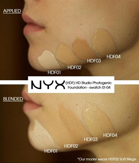tutorial makeup nyx indonesia nyx hdf hd studio photogenic foundation swatches 01 04
