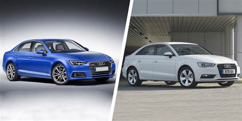 audi a3 sedan vs audi a4 audi a4 vs a3 saloon sibling showdown carwow
