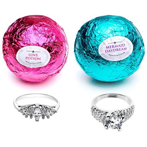 1 Dollar Ring Bath Bombs by 8 Bath Bombs With Rings Inside Them Candle Junkies