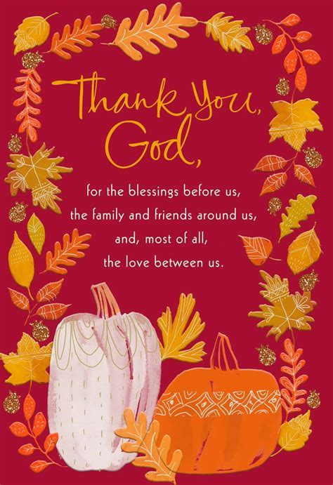 With Love and Gratefulness Religious Thanksgiving Card