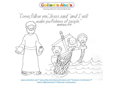 free coloring pages of jesus and his disciples jesus chooses his disciples bible key point coloring page