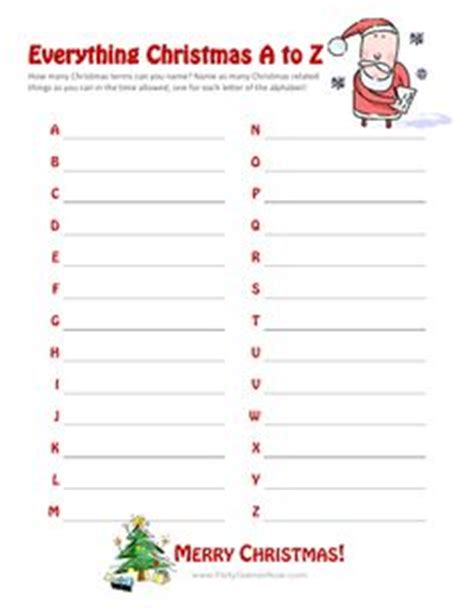party themes beginning with z christmas games to play on pinterest christmas games
