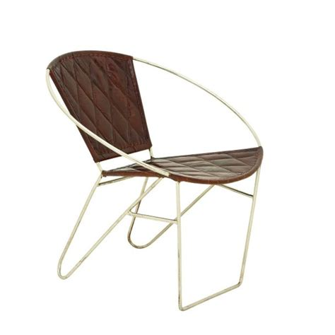 Leather Metal Chair by Saapni Metal Brown Leather Chair 30 Quot W 29 Quot H 80591