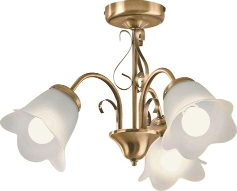 home symphony 3 light ceiling fitting antique brass