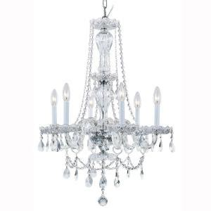 Hton Bay 6 Light Chandelier Hton Bay Lake Point 6 Light Chrome And Clear Chandelier 1000051538 The Home Depot