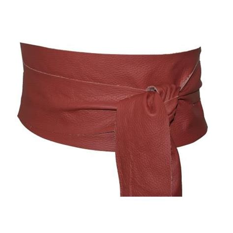 wide pink obi belt from the thing soft leather