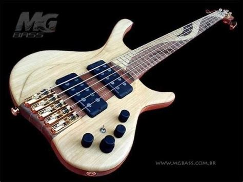 Handmade Bass Guitars - mg bass desert custom handmade 5 string bass guitar