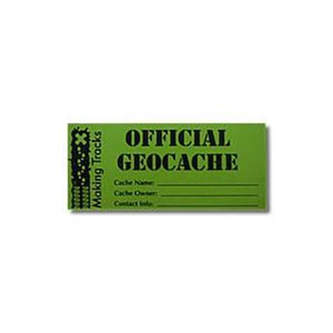 printable geocache label making tracks waterproof vinyl geocache label small 10