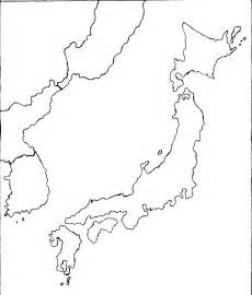 Japan Map Cities Outline by Japan Map Mr Krier S History 7