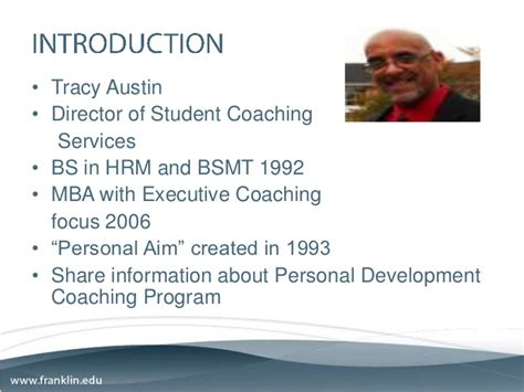 Personal Mba Coach by Personal Development Coaching Presentation 2011