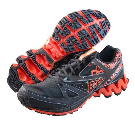 reebok mens running shoes reebok mens zigkick trail 1 0 black running shoes v59986