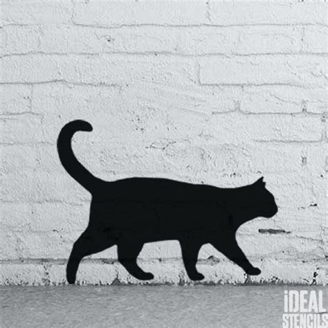 cat silhouette template cat silhouette stencil ideal stencils