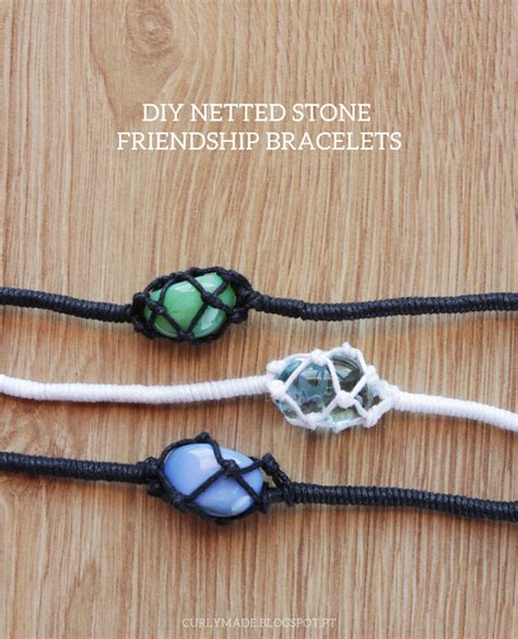 DIY Netted Stone Friendship Bracelets   Curly Made
