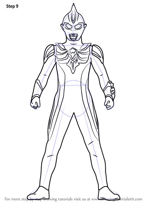 printable coloring pages ultraman learn how to draw ultraman max ultraman step by step