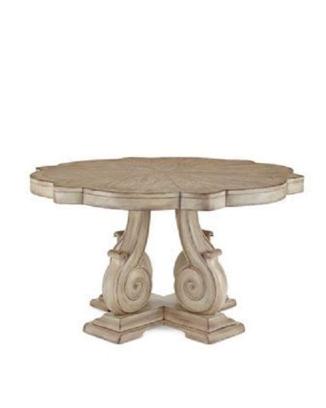 Distressed Pedestal Dining Table Carol Dining Table Neiman Horchow Vintage Style Distressed Pedestal