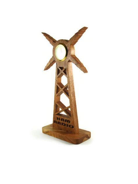 Shelf Ham by Ham Radio Tower Desk Or Shelf Clock Handmade From Cherry Wood