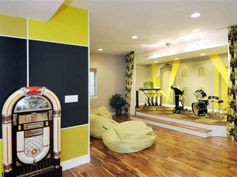 this archetypical 50 s rec room basement features the taking home theaters to a whole new level jimhicks com