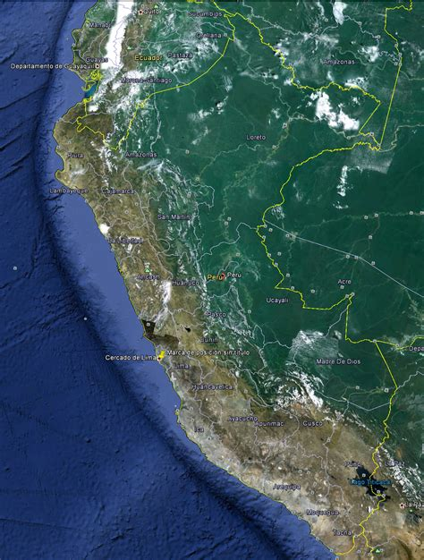 imagenes satelital de wilde mapa de per 250 viajar a peru