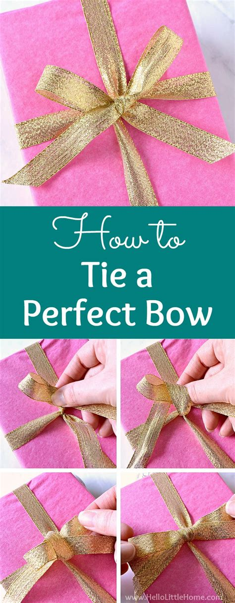 how to make the perfect christmas bow how to tie a bow hello home