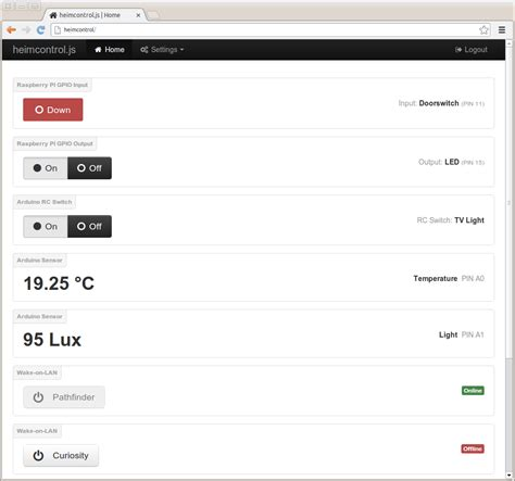 heimcontrol js home automation in node js with raspberry
