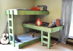 Bunk Bed With 3 Beds The Handmade Dress Bunk Bed Plans