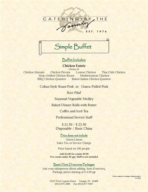 easy holiday buffet menu ideas wedding menus simple buffet catering by the family