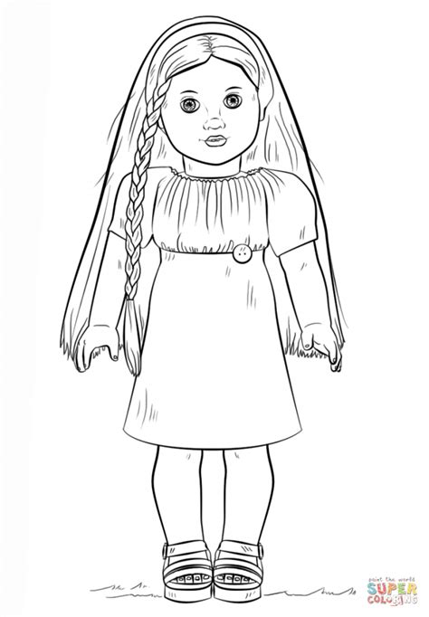 coloring pages online drawing how to draw a american girl doll step by step american