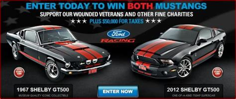 Fund Your Dreams Giveaway - 1967 and 2012 shelby gt500 s plus 50 000 cash