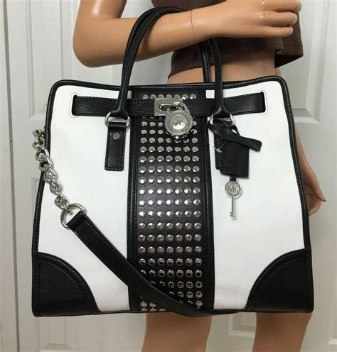 Designer Purse Deal Temperley Studded Bag by Michael Kors Hamilton Center Stripe Studded Large Leather