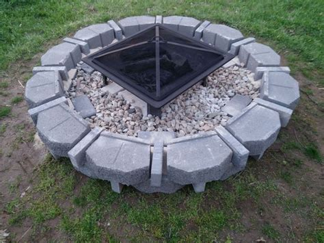 simple fire pit jenuine designs by jenny pinterest
