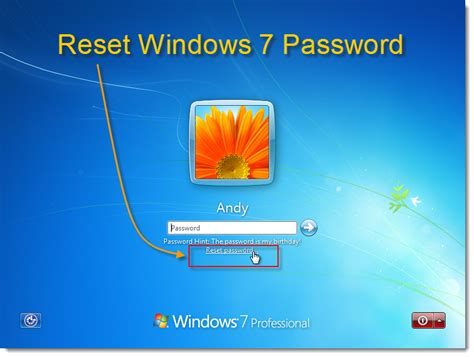 reseter mg2570 win7 windows password recovery methods reset administrator