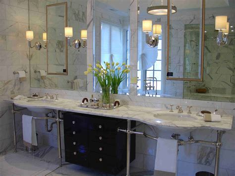 modern deco bathrooms bahtroom pretty flower decor on glass vase on marble top deco bathroom faucets closed big