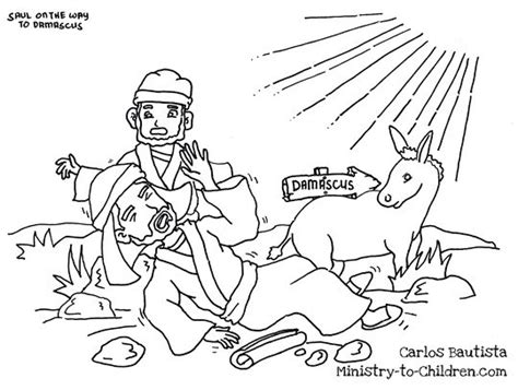 Coloring Page Acts 9 by Quot Saul On The Road To Damascus Quot Coloring Page