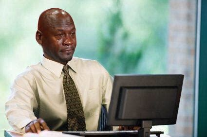 Man On Computer Meme - some reddit user had no idea who the quot crying black dude