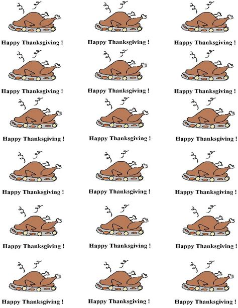 thanksgiving food label cards template 57 best images about printables on free